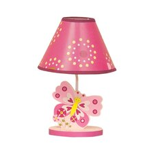 Pink Butterfly Lamp with Shade and Bulb