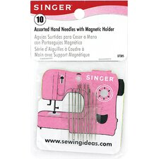 <strong>Singer</strong> Assorted Hand Held Needles with Magnetic Holder (Pack of 10)