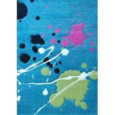 Abstract Turquoise Kids Rug