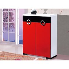 2 Door Shoe Cabinet in Red