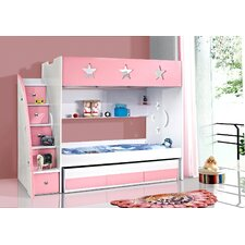 Stars and Moon Bunk Bed with Trundle