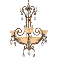 <strong>Fredrick Ramond</strong> Barcelona 6 Light Chandelier