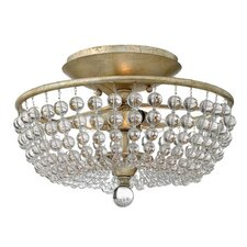 <strong>Fredrick Ramond</strong> Caspia 2 Light Semi Flush Mount