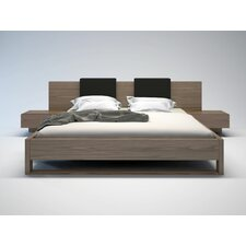 Monroe Platform Bed with Matching Nightstands and Backrest Pillows