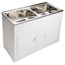 Como Double Bowl Laundry Tub