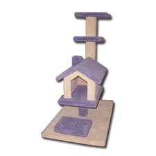 House Scratching Cat Pole with Two Tier