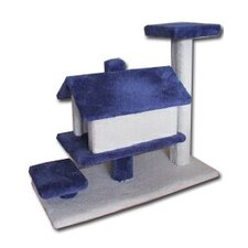 House Scratching Cat Pole with Single Tier