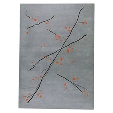 <strong>Hokku Designs</strong> Inari Grey/Orange Rug
