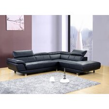 Dela Leather Sectional
