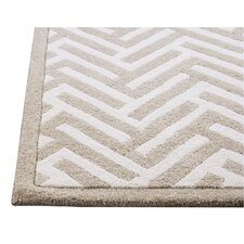 <strong>Hokku Designs</strong> Tracks White Rug