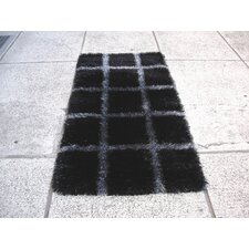 <strong>Hokku Designs</strong> Delsik Black/Grey Rug
