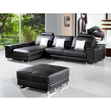<strong>Hokku Designs</strong> Martini Leather Sectional