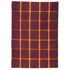 <strong>Hokku Designs</strong> Manhattan Brown/Orange Rug