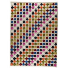 <strong>Hokku Designs</strong> Smarties White/Multi Rug