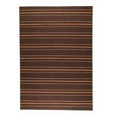 Savannah Brown Striped Rug