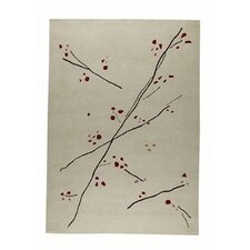 <strong>Hokku Designs</strong> Inari White/Red Rug