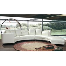 <strong>Hokku Designs</strong> Carnelian Leather Sectional