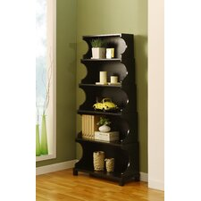 Cosma Five-Shelves Bookcase / Display Cabinet in Antique Black
