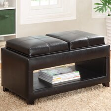 Elyn Leatherette Flip Top Storage Bench