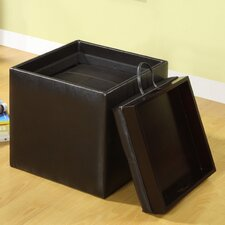 <strong>Hokku Designs</strong> Littleton Leatherette Cube Ottoman