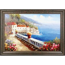 View from the Terrace Hand Painted Oil Canvas Art with Frame