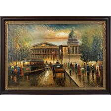 Reminiscing Paris Hand Painted Oil Canvas Art with Frame