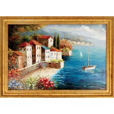 Sailing Day Hand Painted Oil Canvas Art with Frame