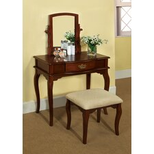 Coreen Vanity Table with Matching Stool