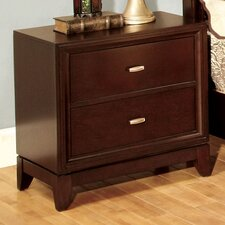 <strong>Hokku Designs</strong> Genevia 2 Drawer Nightstand