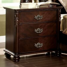 Velda 3 Drawer Nightstand