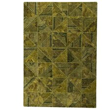 <strong>Hokku Designs</strong> Tile Viviana Green Rug