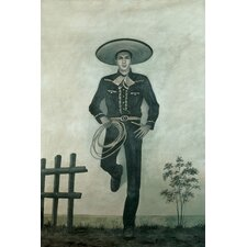 Charro Painting Print on Canvas