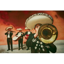 Mariachi Painting Print on Canvas