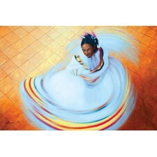 Baile Folklorico Painting Print on Canvas