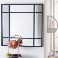 "28"" H x 28"" W Sleek Square Wall Mount Accent Mirror"