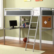 <strong>Hokku Designs</strong> Apollo Twin Loft Bed with Desk and Bookshelves