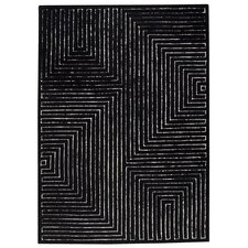 <strong>Hokku Designs</strong> Maze Black/White Rug