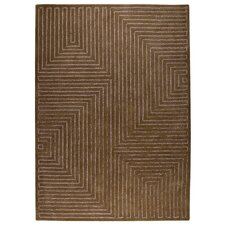<strong>Hokku Designs</strong> Maze Grey/Brown Rug