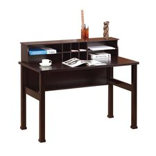 Chelsia Basic Writing Desk with Hutch