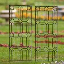 Set of Two Small Diamond Trellises