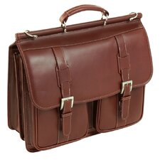 <strong>Siamod</strong> Manarola Signorini Leather Laptop Briefcase