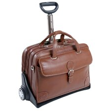 Carugetto Leather Detachable-Wheeled Laptop Case