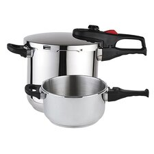 <strong>Magefesa</strong> Practika Plus 3 Piece Stainless Steel Super Fast Pressure Cooker Set