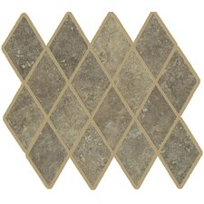"Lunar Rhomboid 12"" x 9.75"" Mosaic Tile Accent in Noce"