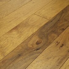 "<strong>Shaw Floors</strong> Brushed Suede 4-1/2"" Engineered Hickory Flooring in Buckskin"