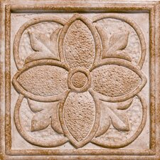 "Corinthian 2"" x 2"" Insert Tile Accent in Rustic Gold"