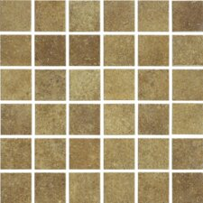 "Brushstone 12"" x 12"" Mosaic Tile Accent in Adobe"