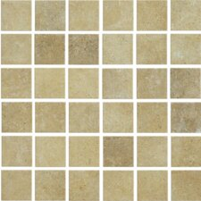 "<strong>Shaw Floors</strong> Brushstone 12"" x 12"" Mosaic Tile Accent in Camel"