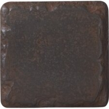 "Heritage Metal 4"" x 4"" Tile Accent in Rust"