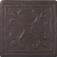 "Heritage Sagebrush Deco 4"" x 4"" Tile Accent in Rust"